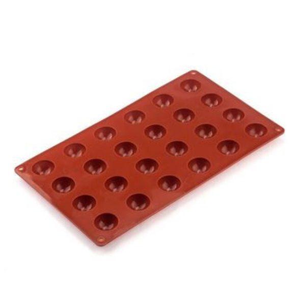Szilikon bonbon forma kis félgömbök