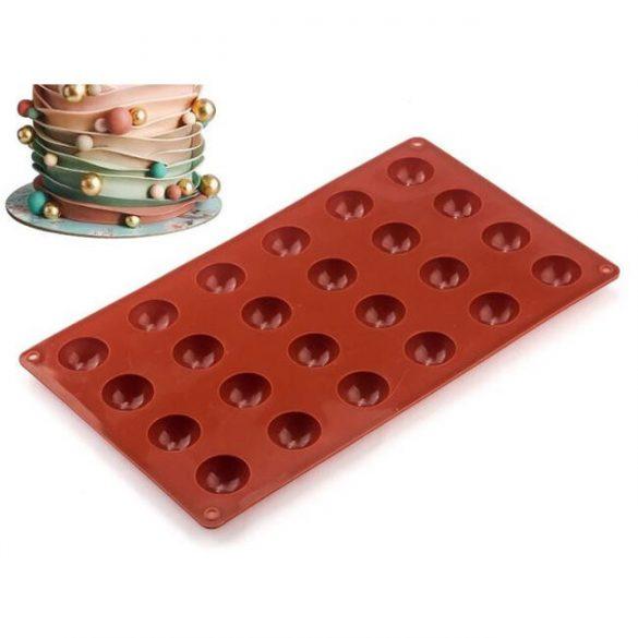 Silicone bonbons form - small hemispheres