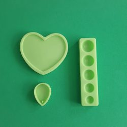 Home Made jewellery Silicone Moulds, Small Pack, 3 Pieces