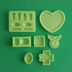 Home Made jewellery Silicone Moulds, Medium Pack, 7 Pieces