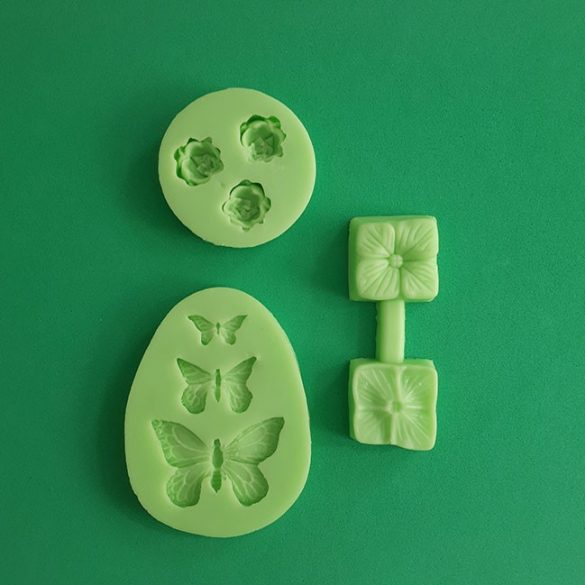 Silicone Fondant Moulds Small Pack of 3 pieces