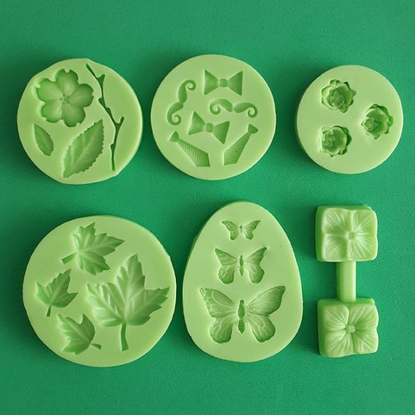 Silicone Fondant Moulds Medium Pack of 6 pieces