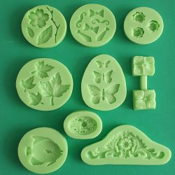 Silicone Fondant Moulds Big Pack of 9 pieces