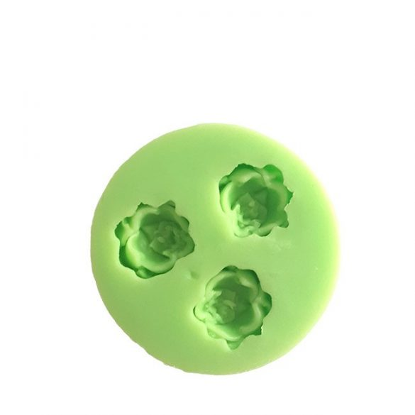 3 pieces of Rose Silicone Mould, 2x1.5 cm each
