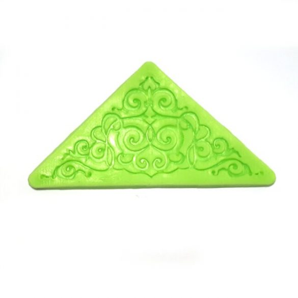 Corner Part Silicone Lace Pattern for Decoration