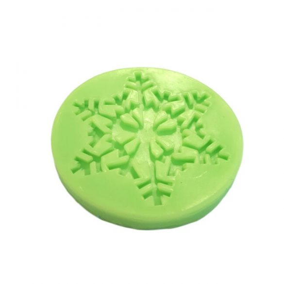 Snowflake Silicone Pattern - Diameter 53 mm