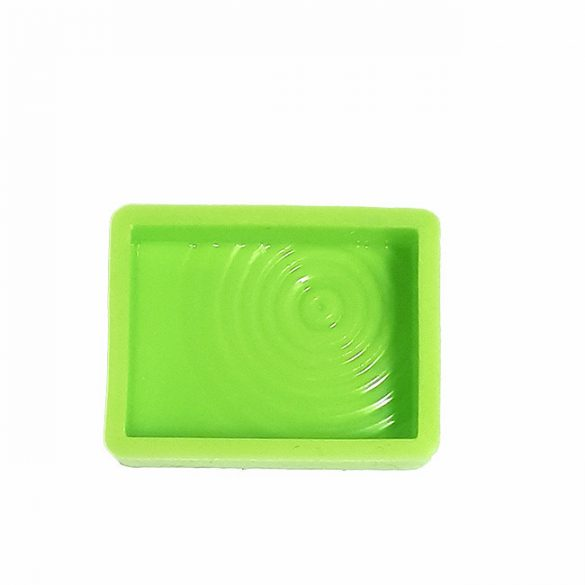 Rectangle Medallion Silicone Mould, engraved