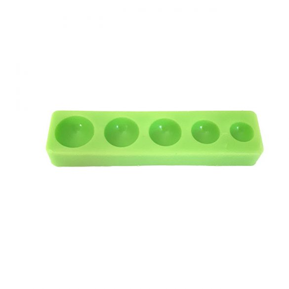 Hemisphere of 5 different Dimension Silicone Mould, 88x22x10