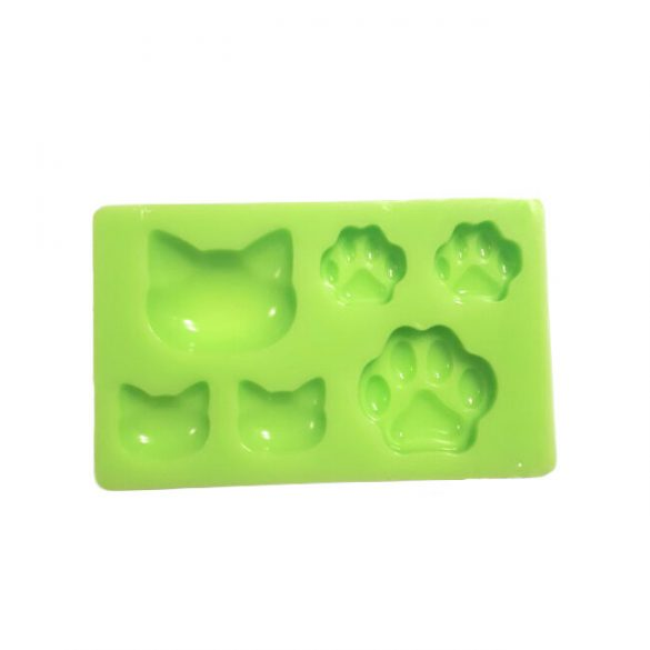 Cat Head and Paw Silicone Form for jewellery Casting