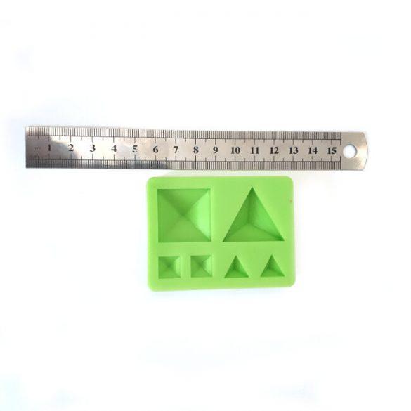 Ékszerkövek Szilikon Forma, Piramid & Tetraéder Gúlák