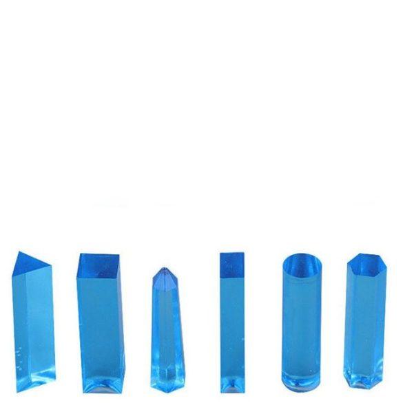 49x19 mm hatszög alapú téglatest medál szilikon öntőforma