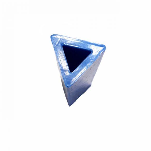 49x19 mm háromszög hasáb medál szilikon öntőforma