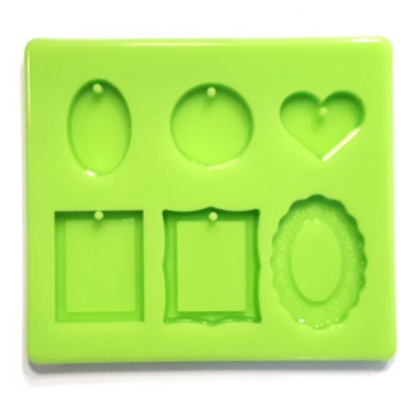 Pendant of 6 Pieces Silicone Mould