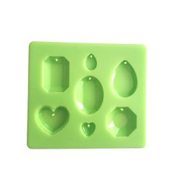 Pendant of 7 Pieces Silicone Mould