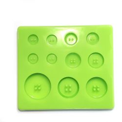 Home Made Button of 7 Pieces Silicone Casting Mould