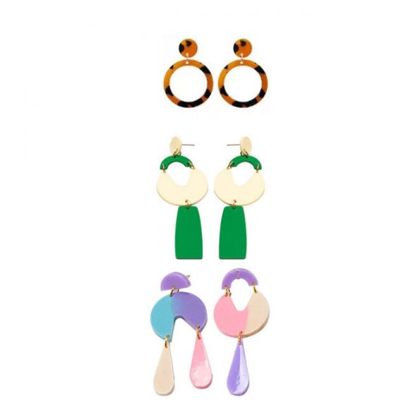 """Modern earrings silicone mould """"A"""""""