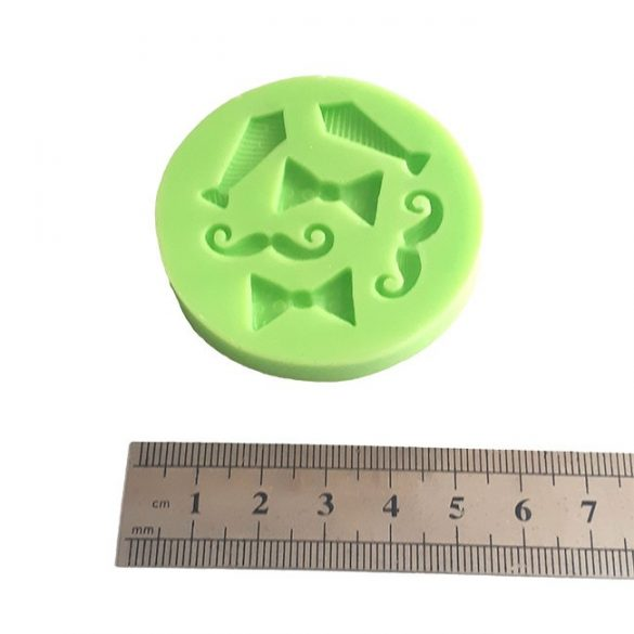 Tie and Mustache Shape Silicone Fondant Mould
