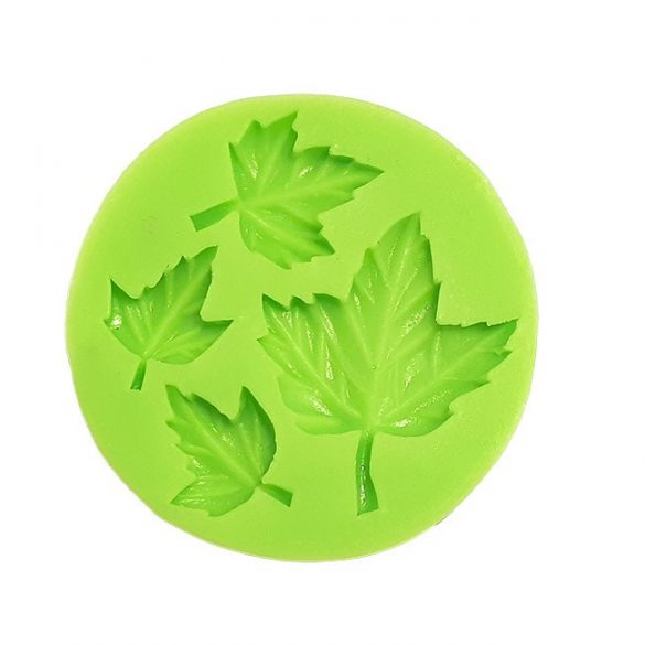 Leaf of 4 different Sizes Marzipan Silicone Mould