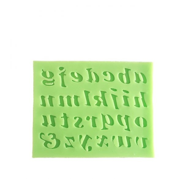 Italic Lowercase Letters Silicone Mould