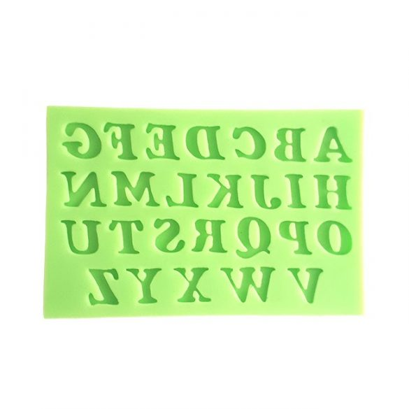 Italic Uppercase Letters Silicone Mould