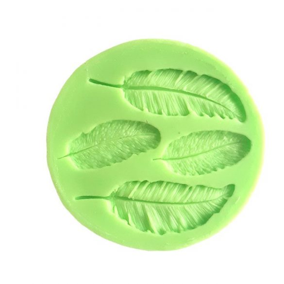 Leaf of 4 different Sizes Fondant Silicone Mould
