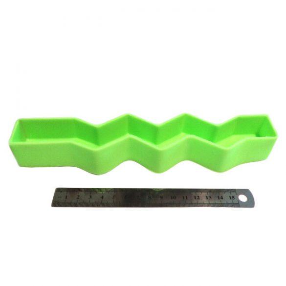 Gyertyaöntő szilikon forma - cikcakk-2