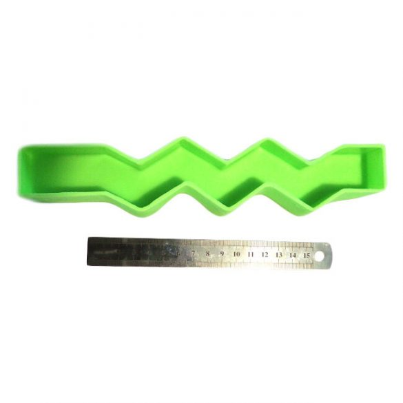 Gyertyaöntő szilikon forma - cikcakk