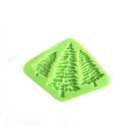 Karácsonyi dekoráció - 3 méretű fenyőfa öntőforma-1