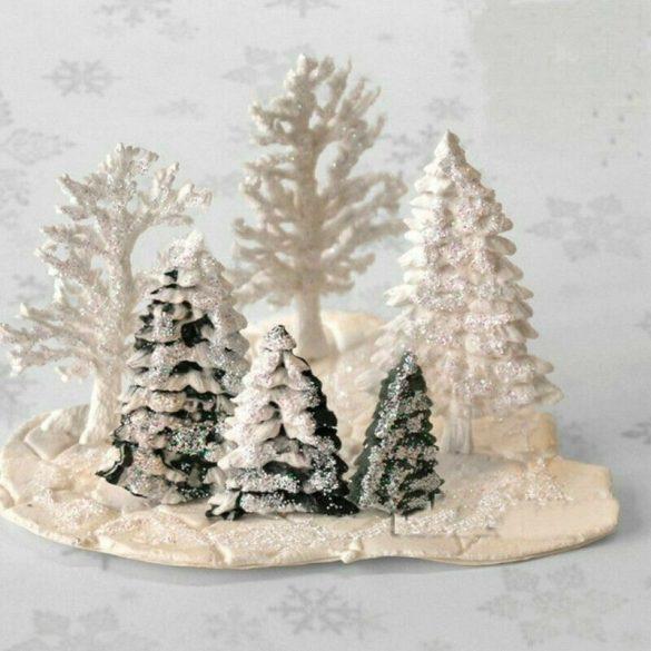 Karácsonyi dekoráció - 3 méretű fenyőfa öntőforma
