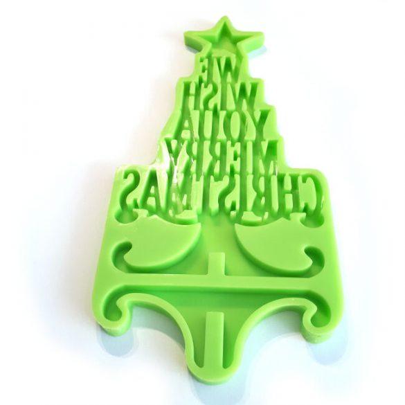 Karácsonyi asztali dísz készítő forma