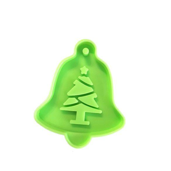 Karácsonyi dísz - Fenyőfás harang szilikon forma