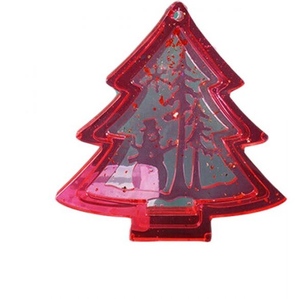Christmas decoration - Pine tree with snowman silicone shape