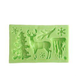 Karácsonyi szarvas dekoráció -  szilikon forma