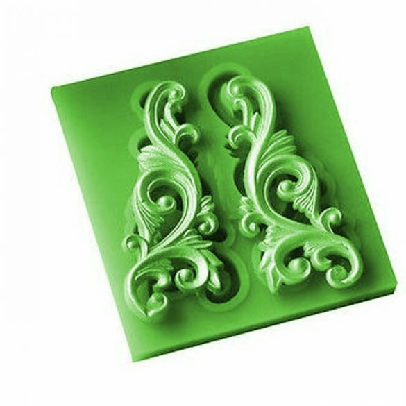 Symmetrical Lace Leaf Pattern Silicone Mold