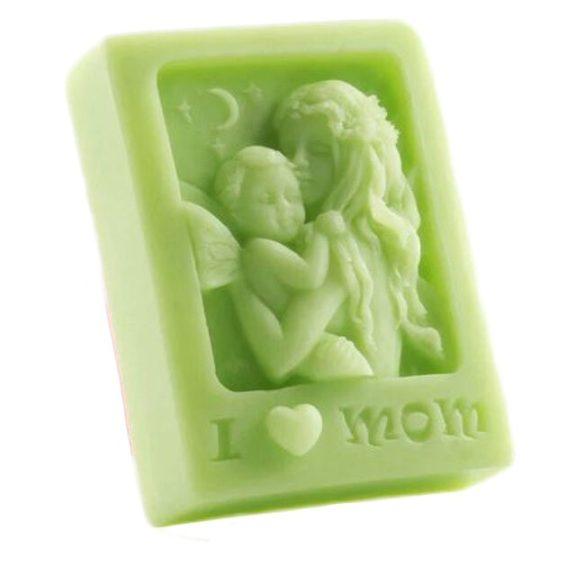 Szilikon szappanöntő forma - anya gyermekkel