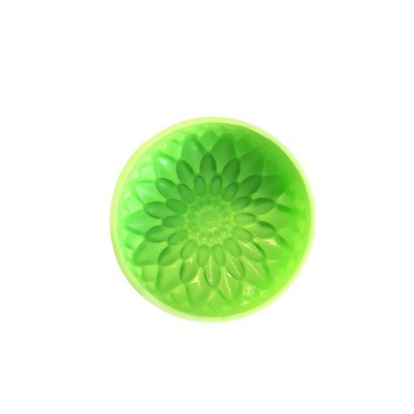 Szilikon szappanöntő forma - virág mintás