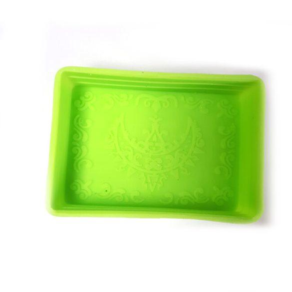 Szilikon szappanöntő forma - klasszikus - mintázott