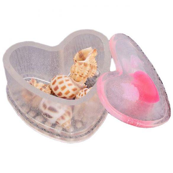 Jewellery Box Silicone Mould - Heart Shape