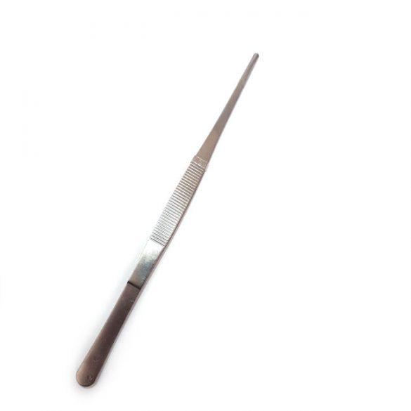 20 cm-es műszerész fém csipesz