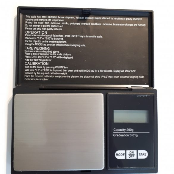 Pocket Scale, 0.1g Precision, max. 200g