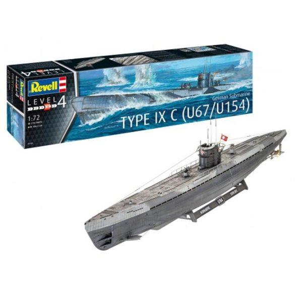German Submarine Type IX C német tengeralattjáró makett