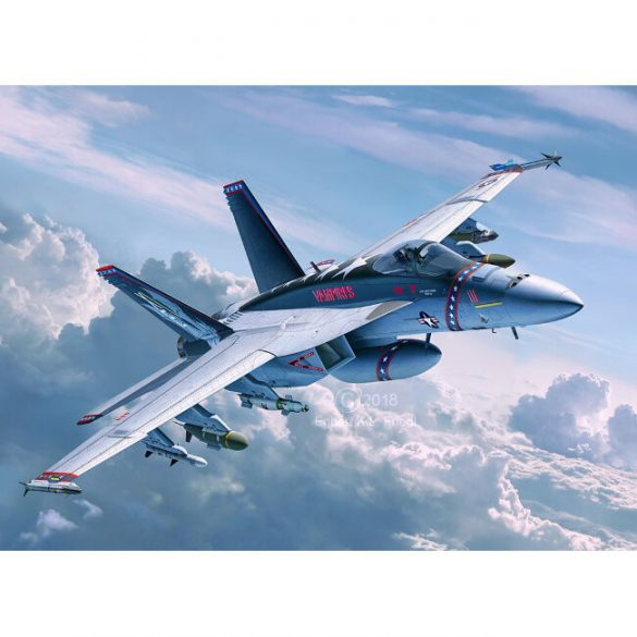 F/A-18E Super Hornet military flight mock-up